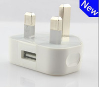 Wholesale Uk Usb Plug High - USB Wall charger AC Wall Power Adapter Charger UK 3 Pins Plug for mobile phone MP4 mp3 For Iphone 5 5s 6 6s 7 S6 S7 High quality JBD-UK