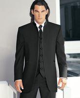 Wholesale Vent Collar - Custom Made Big Boss Two Buttons Flat Collar Groomsman Men Suits Bridegroom Tuxedo Best Man Suit Wedding Suit (Jacket+Pants+Vest) Y34