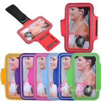 braçadeira de esportes para celulares venda por atacado-Para iphone 8 x nota 8 esporte à prova d 'água ginásio correndo braçadeira case capa bolsa bolsa para o telefone móvel para 7 galaxy s8 além de