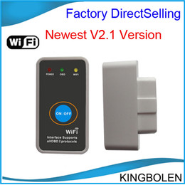 Wholesale Nissan Stocks - 2014 hot selling Super Mini ELM327 WiFi with Power Switch WIFI327 OBD2 EOBD ELM 327 auto Code Reader Tool Diagnostic tool In stock
