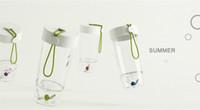 ungezogener plastik großhandel-Lustige Wasserflasche mit Ringtoss-Spiel Naughty Bird Series Portable BPA-freie Plastiktrinkflasche für Kinder