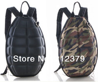 Wholesale Ship School Backpacks - Wholesale-OP-1 piece new creative personality grenade Backpack trend of children's bomb bag Fashion men women bomb school bag Free shipping