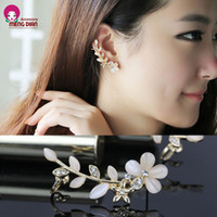 Wholesale MD198 hot sale high quality beautiful flower style earring jackets
