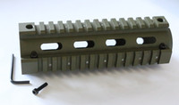Wholesale Hand Guard M16 - NATOARMS NA-MTS0007-G OD GREEN Quad Rail Hand Guard For CAR Size 7 inch AR15 M4 M16