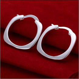 Wholesale Hoop Earring Supplies Wholesale - Factory direct supply! High quality low price wholesale 925 silver hoop earrings fashion jewelry free shipping 10pair lot