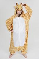 пижама для животных оптовых-новая осень жираф Kigurumi пижамы животных косплей костюм пижамы животных пижамы животных пижамы / медведь / кролик / корги / панда / кошка / волк / Пикачу / Бэтмен