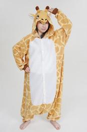 nueva jirafa de otoño Kigurumi pijamas Animal traje de cosplay pijamas Animal ropa de dormir / oso / conejo / Corgi / panda / gato / lobo / pikachu / batman desde fabricantes