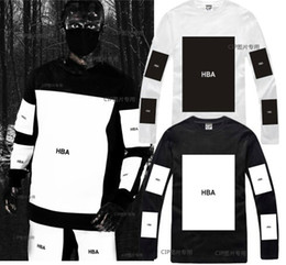 Wholesale Kanye West Trill - Hot! HBA Mens t shirts 2016 fashion men clothing Hood by air hba x been trill kanye west tops long sleeve hip hop men t shirt