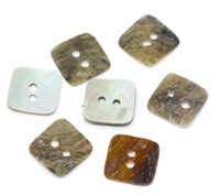 Wholesale Mother Pearl Sewing Buttons - 100 Mother of Pearl Square Sewing Buttons Scrapbooking