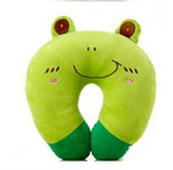 Haute qualité mignon caricature molle en forme de U oreiller 9 styles rose porc grenouille grenouille chat noir tigre bruins rose lapin panda enfants oreillers