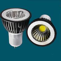 Wholesale Mr16 12v 3w Led Brightness - COB 3W E27 GU10 MR16 led spotlight bulb lamp black shell high brightness AC85-265V spot light lamp