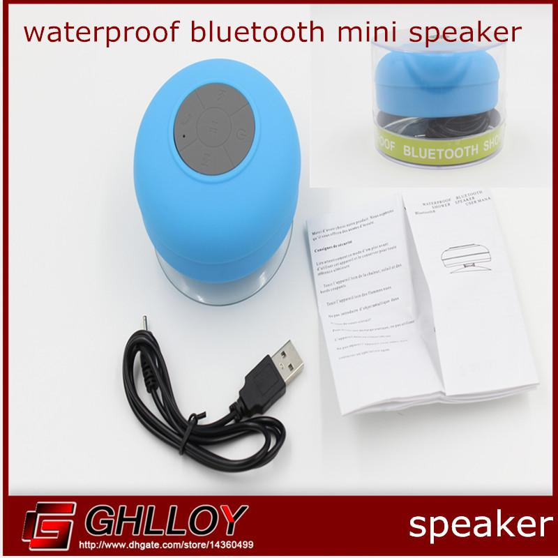 Mini Waterproof Wireless Bluetooth Speaker Handsfree Speakerphone for iPhone 5S 5C iPad Smartphone Galaxy S4 Note 3 Tablet Laptop 50pcs up