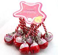 Wholesale Maneki Neko Strap - 50pcs Red (PROSPERITY) Maneki Neko Lucky Cat Bell Cell Phone Charm Strap 0.6 in