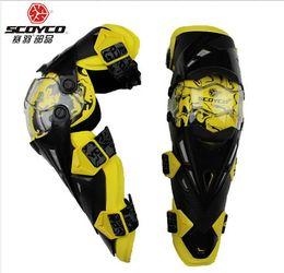 Wholesale Scoyco K12 - wholesale moto racing protective gear SCOYCO K12 motorcycle kneecap Kneepad motocross knee guards protector kneelet knee pad White yellow