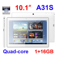 """Wholesale A31s Free Shipping - 10"""" 10.1 inch Allwinner A31S Quad Core Android 4.4 1G 16GB 1280X800 IPS MID Dual Camera HDMI Bluetooth Free shipping tablet pc"""