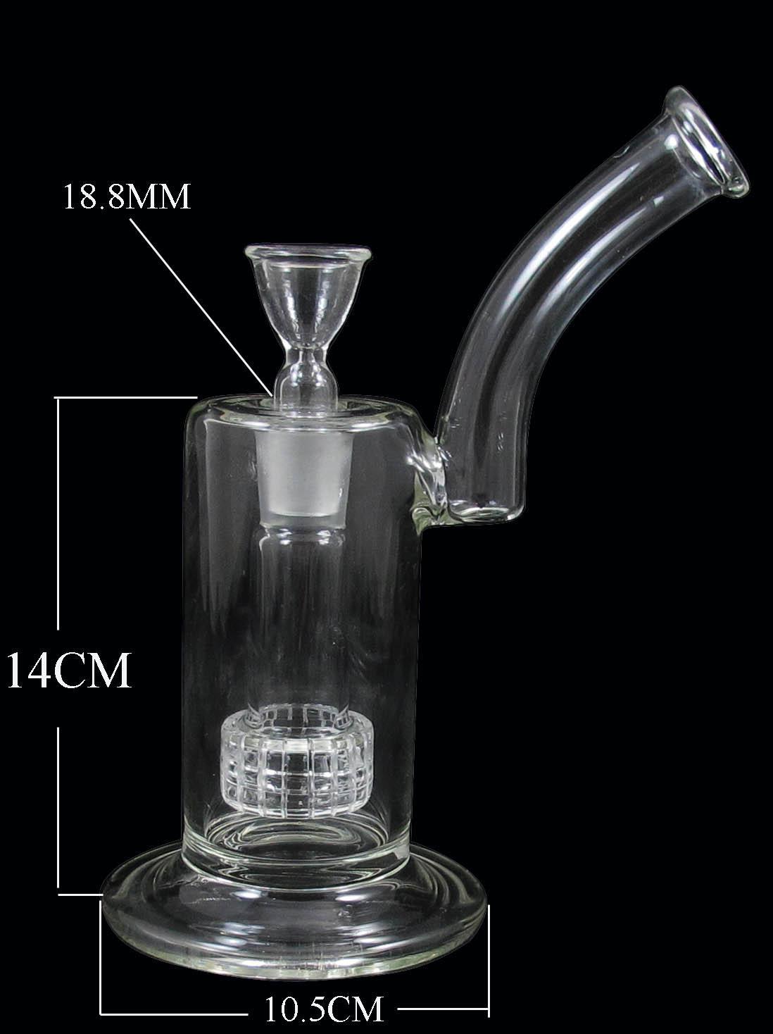 D020-D 9 Zoll bubbler glas bong wasser percolator pfeife zwei funktionen