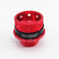 Wholesale Evolution X - Red Oil Fuel Filler Cap Cover for Lancer Evolution EVO X CZ4A 08-14