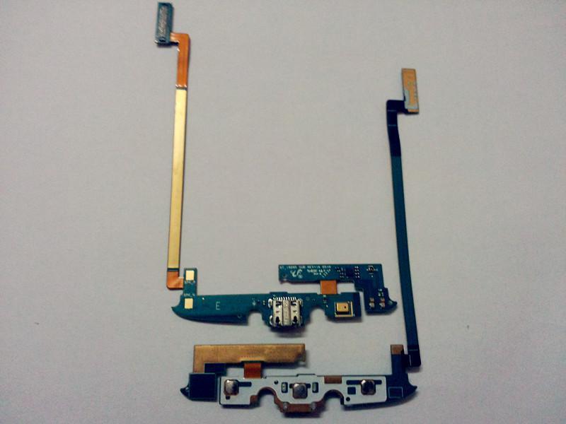 Conector do carregador de carregamento original porta usb doca do microfone da frente do teclado sim sd titular flex cable para samsung galaxy s4 ativo i9295 i537