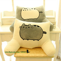 Regalos De La Almohada De La Novia Baratos-Pusheen The Cat Big Soft Cushion en forma de U almohada Lumbar Home Bed Decor asiento de coche almohada Girlfriend Gift Plush Toy