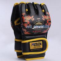 Wholesale Gloves Hit - Hit Gants de sacs de sable Combat Box MMA Takewondo Mitaines Gants Mitain Training Gloves Dragon Boxing Half Finger Glove