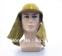 Wholesale Ww2 Hats - Hot Sale WW2 Japanese Army Officer Soldiers' Field Cap Wool Hat Free Shipping