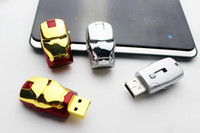 Wholesale Iron Man Usb Dhl - DHL super seller for new version Iron gift Man LED USB Flash Drive 64GB 128GB Free Shipping 60pcs cocoshop856 shop
