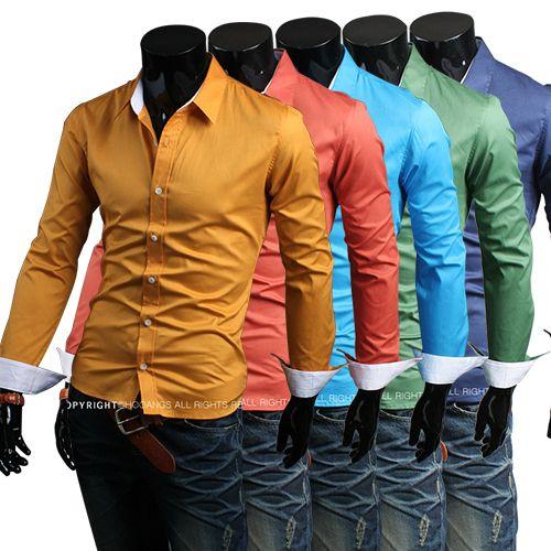 Spring color dress shirts