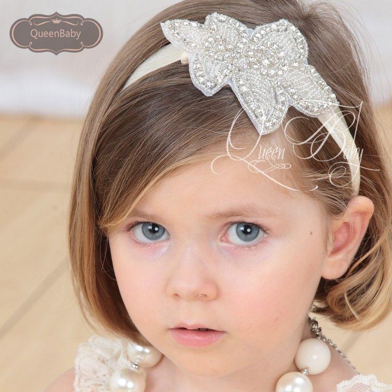 Ivorybella Vintage Baby Girl Bling Crystal Rhinestone Headbands Newborn  Christening Headband Baby Toddler Photo Props Hair Accessories Barrettes  Cute Girl ... c5b7f0f85e0