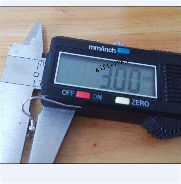500 pezzi in acciaio inossidabile 316L gancio, fare orecchini materiale, fai da te