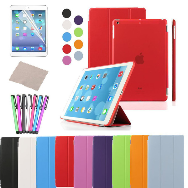 China Ultra Thin Magnetic Smart Cover & Clear Back Case for Apple iPad + Screen Protector + Stylus + Cleaning Cloth iPad Air BHK410X