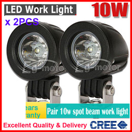 "cree led lenses 2019 - 2PCS 2"" 10W CREE LED Driving Work Light Off-Road SUV ATV 4WD 4x4 Spot   Flood Beam 800lm 9-32V JEEP Motorcycle UTE"