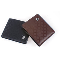 Wholesale Leather Mens Key Wallet - S5Q Mens Leather Short Wallet Card Cash Holder Multi Pocket Bifold Slim Purse AAACRO