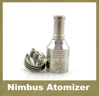 Wholesale Gold Nimbus Atomizer - E Cigarette RBA Atomizer Trident Nimbus Gold Vaporizer Kayfun Nimbus Atomizer Matched With Chiyou Bagua King E-cig Mod ATB011