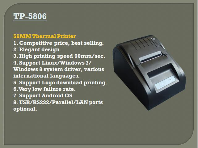 TP-5806 Bill Printer Thermal Mechanism 58MM Width
