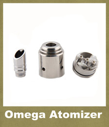 Wholesale Chrome Cigarette - Omega Mods Atomizer Dual Coil Control Vaporizer Chrome RBA RDA Quasar Aqua Patriot Omega Rebuildable Electronic Cigarette Mods ATB012