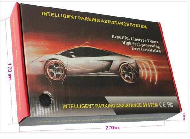 Sensor de Estacionamento LED Rader Bibi Alarme de Som Do Carro Invertendo Aid 4 Sensores Várias Cores PZ300 LCD Sensor de Estacionamento Em Estoque