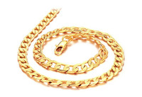 Wholesale 7mm Rope Chain - 7mm Men necklace chain 18k gold-plated necklaces men jewelry Christmas gift