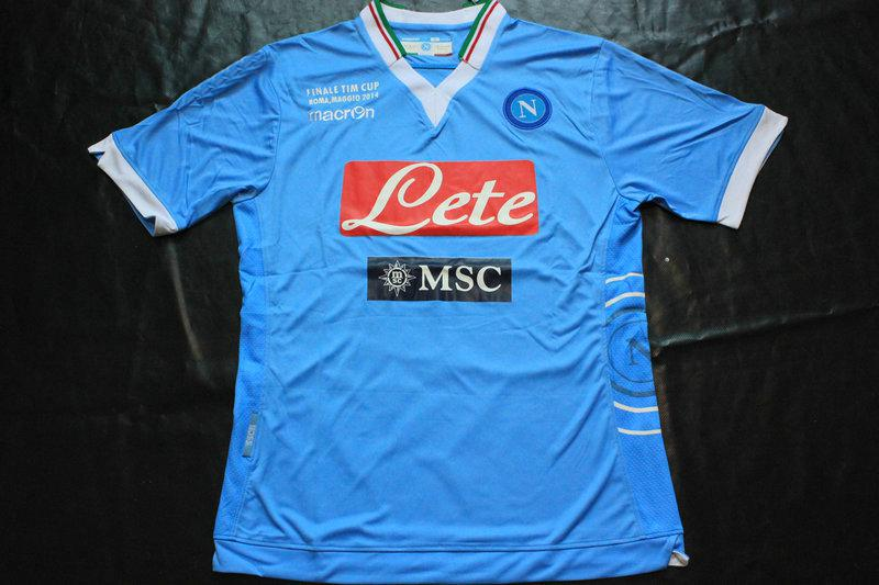 Napoli Jersey 2014-15 Naples Home Blue Soccer Jerseys Best ...