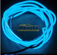 coche de alambre de cuerda de neón al por mayor-Venta caliente 2X Flexible Azul Neón EL Light Wire Rope Car Party 7.5FT Envío Gratis