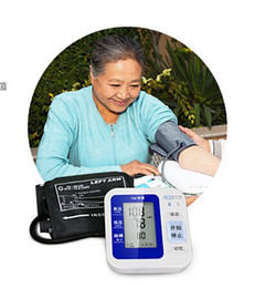 Wholesale Digital Wrist Heart Blood Pressure - LCD Automatic Digital Portable Wrist Blood Pressure Monitor & Heart Beat Meter Sphygmomanometer Free Shipping
