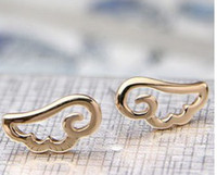 Wholesale winged cuff earrings resale online - 5pairs Korean Jewelry Specials Favorite Angel Wings Ear Cuff Cheap Earrings XY E46