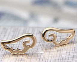 Wholesale Wing Earring Cuff - 5pairs 1Lot Korean Jewelry Wholesale Specials Favorite Angel Wings Ear Cuff Cheap Earrings XY-E46