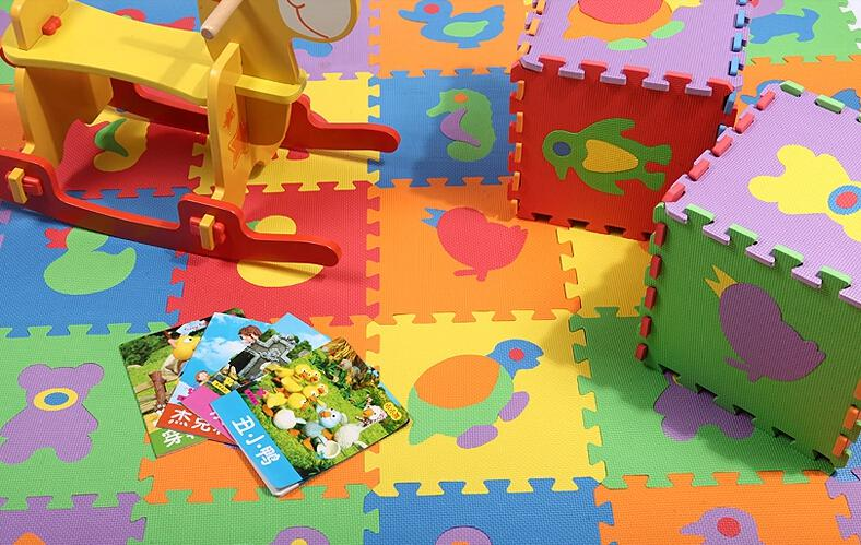 free shipping eva foam mat gym mats animal puzzles floor mat baby room cm 10pcslot