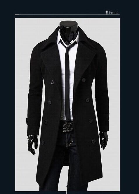 2018 Cheap Mens Outerwear Coats Men Trench Coats Brand Winter Mens ...