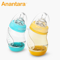 Wholesale Baby Product Bottle - free shipping baby gift newborn bottle wide-mouth anti-flatulence bottle plastic ppsu infant baby products