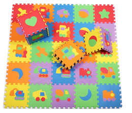 Wholesale Playground Indoor - Free Shipping EVA Foam Mat Gym Mats Movable Transport Education Puzzle Inter-lock INDOOR PLAYGROUND Mat 30*30*1 cm 10pcs lot