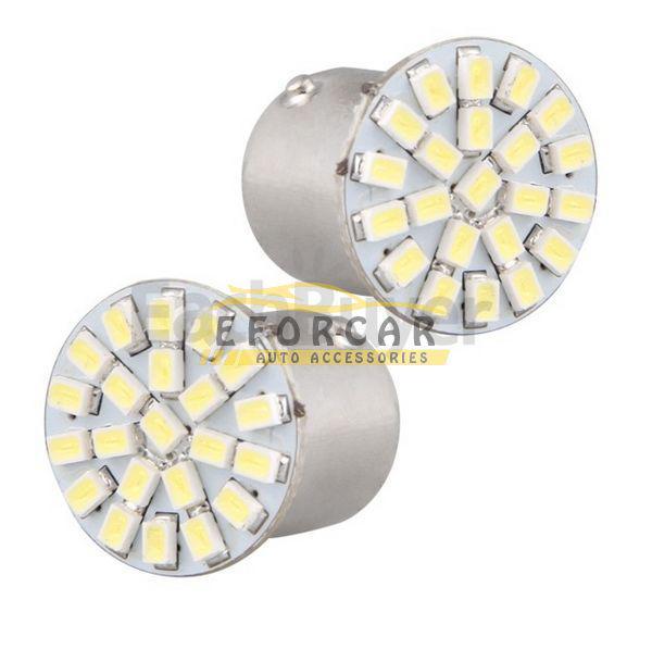 / 1156 BA15S P21W 1073 الأبيض 22 1206 SMD LED الذيل إيقاف ضوء لمبة 12V شحن مجاني