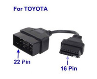 Wholesale Obd2 16 Pin Male - for Toyota 22Pin to 16Pin OBD1 OBD2 Cable toyota 22 Pin Male to OBD OBD2 OBDII 16 Pin 16Pin Female
