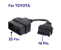 For Toyota 22Pin to 16Pin OBD1 OBD2 Cable Toyota 22 Pin Male To OBD OBD2 OBDII 16 Pin 16Pin Female