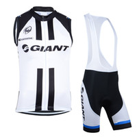 Wholesale Cycling Vest Bib - Wholesale! 2014 GIANT Sleeveless Vest Cycling jersey Cycling Clothes   Cycling short sleeveless vest + (bib) Shorts suits SIZE:S-XXXL